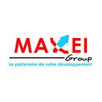 Logo du groupe MAXEI - créateur de solution industrielle sur mesure partenaire adrinord