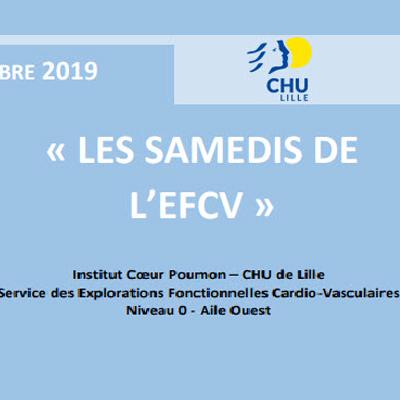 logo de l'événement scientifique les samedis de l'EFCV organisé par adrinord